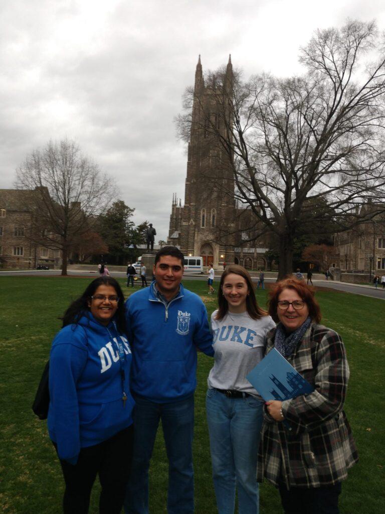 College visit at Duke University